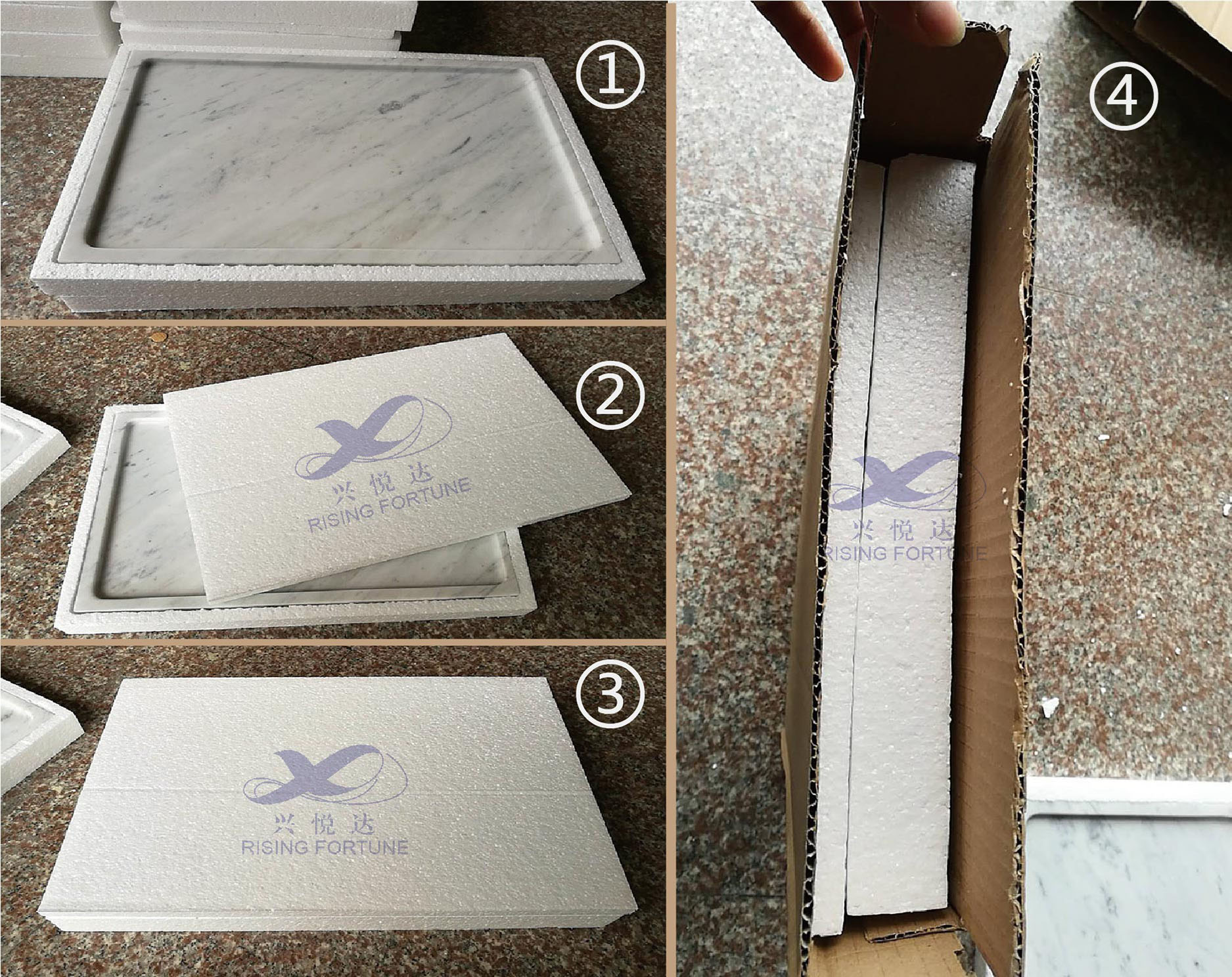 marble tray packing