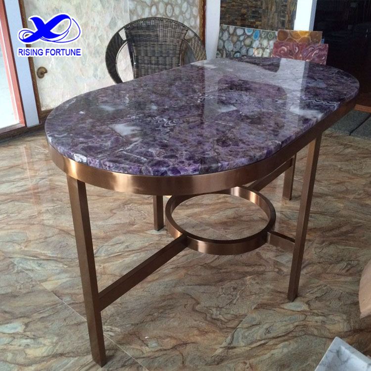amethyst gemstone dining table