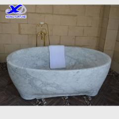 carrara marble bathtub