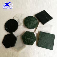 hexagon marble drink coasters