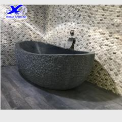 oval natural stone bathtub
