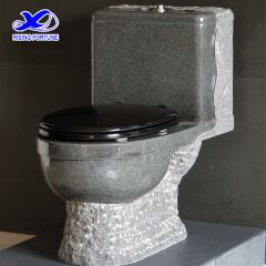 dark grey granite toilet