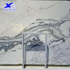 White marble with grey veins for interior decoration