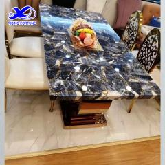 gemstone dining table