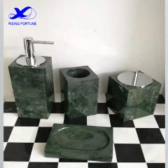 green marble bathroom set