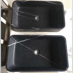 honed rectangular vessel sink