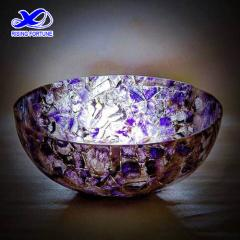 Natural purple amethyst round vessel sinks